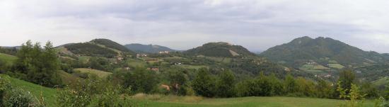 Panorama iznad sela Ba
