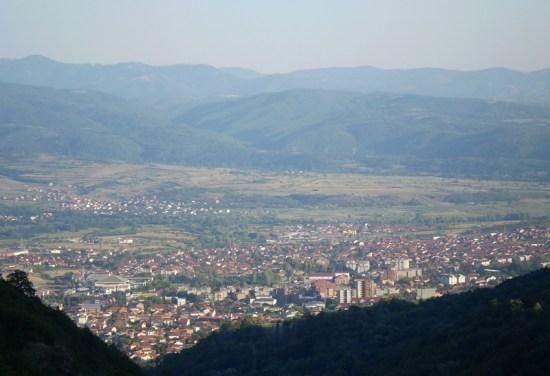 Pogled na Vranje sa vrha Kristolovca