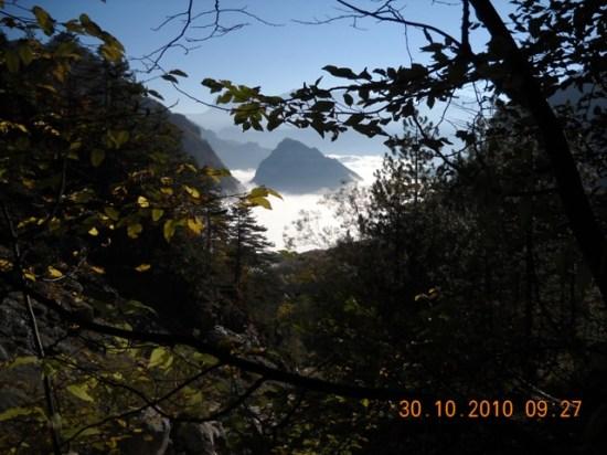 Magleno more-pogled sa Alp.skloništa