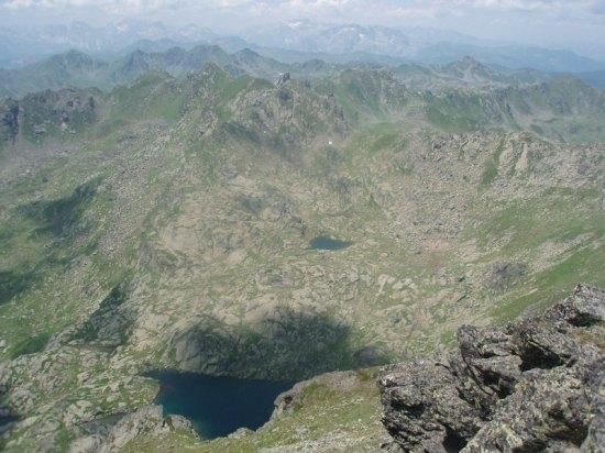 Pogled sa vrha na albanski deo Prokletija