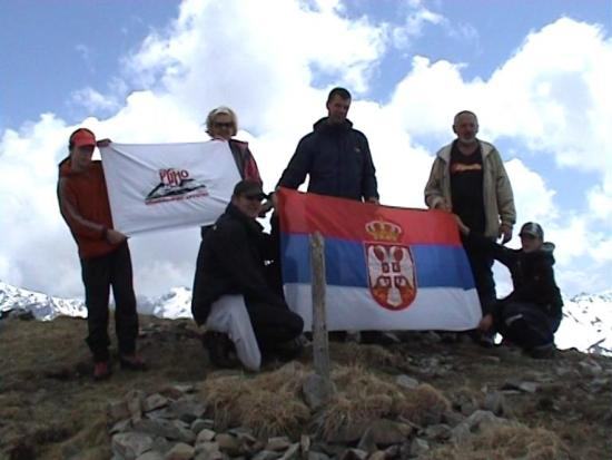 Na vrhu Maja Rops (2501 m.n.v)