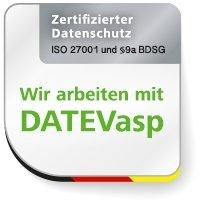 IT-Sicherheit, Datenschutz- und Datensicherheit. DATEVasp. Zertifikate und Audits (ISO 27001, Datenschutzaudit nach § 9a BDSG und ISAE 3402)