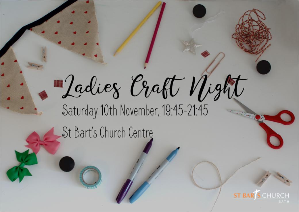 Ladies Craft Night St Bart S Church