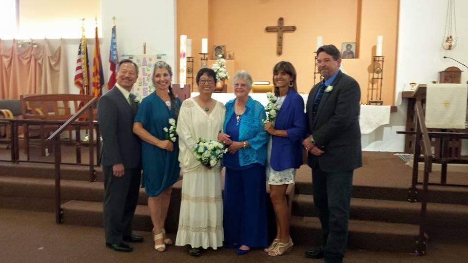 Sharon and Shelley's wedding