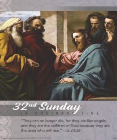 32nd Sunday Mass Reading image