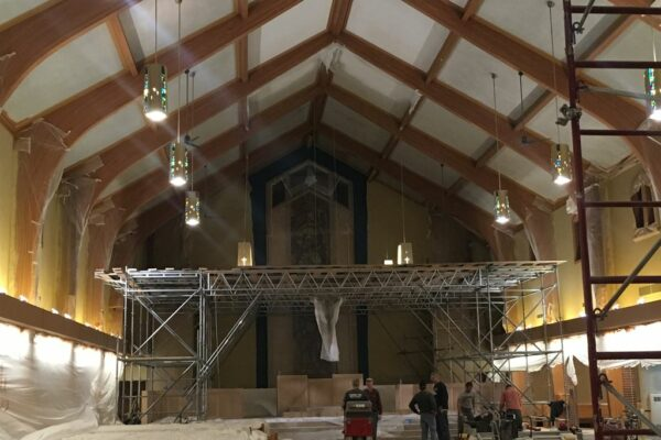 Image of Church in scaffolding