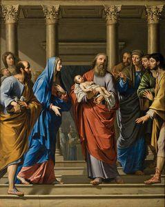 Painting: Presentación de Cristo en el templo