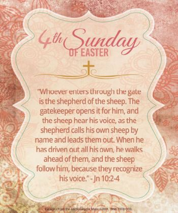 4th Sunday of Easter Image - Jn 10:2-4