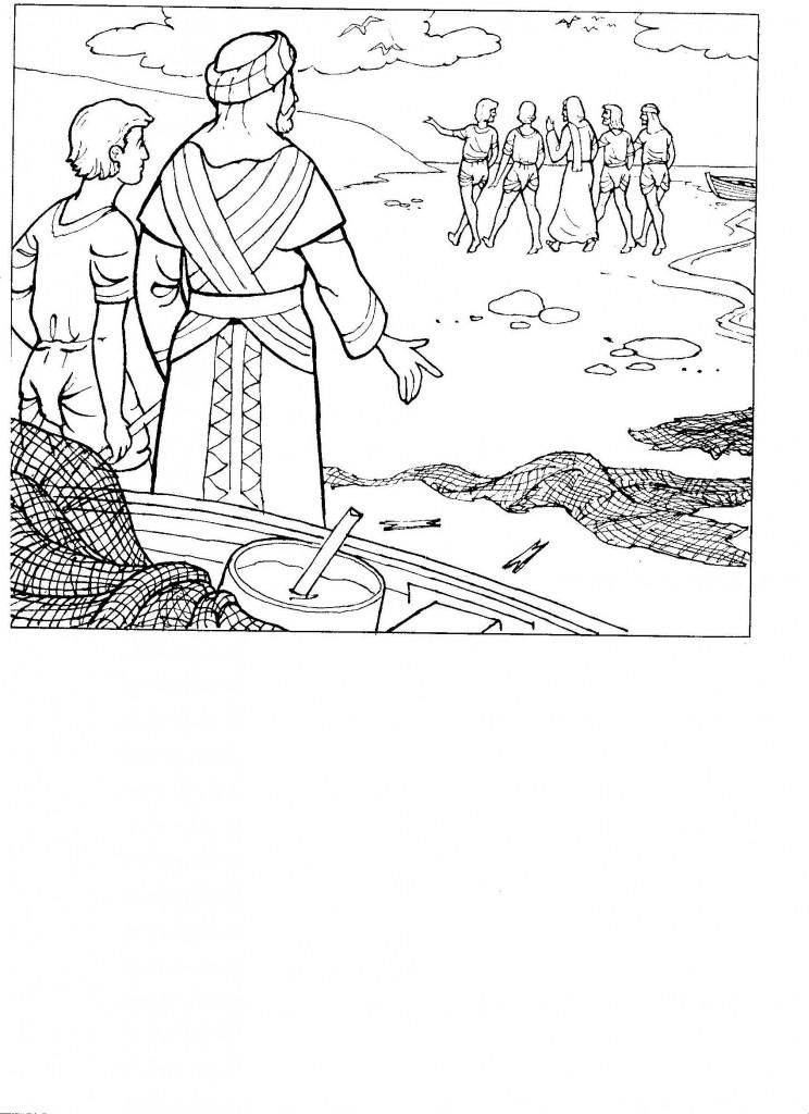 Jesus Calls His Disciples Coloring Page Sketch Coloring Page