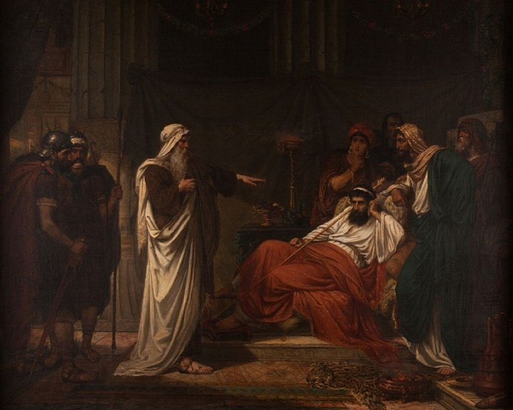 The Prophet Nathan Rebukes King David, Eugène Siberdt, 19th Century.