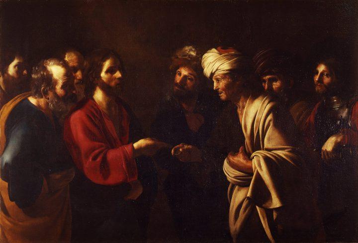 Tribute to Caesar, Bartolomeo Manfredi, 1610-1620, Uffizi Gallery