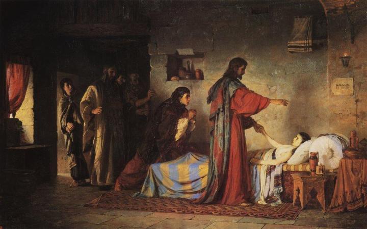 Resurrection of Jairus' Daughter, Vasily Polenov, 1871