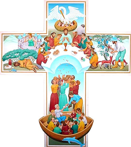 Cross of the Eucharist, Peter Winfried Koenig, 2005, St Edward's Church, Kettering UK
