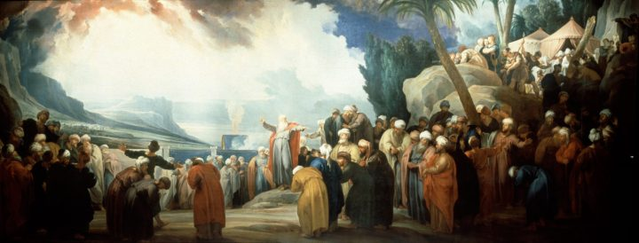Moses Elects the Council of Seventy Elder, Jacob de Wit, 1737, Royal Palace of Amsterdam