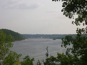 View of the St. Croix river looking downstream toward Stillwater.