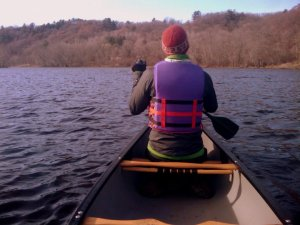 St. Croix River canoeing in November