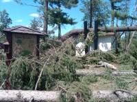 What the area looked like after the July 1 storm.