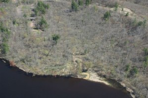 St. Croix River sand mine mouth of creek at river