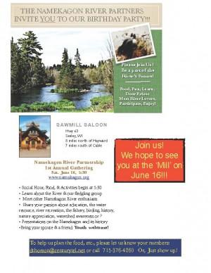 Namekagon River Partnership event invitation