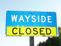 Wayside Closed sign