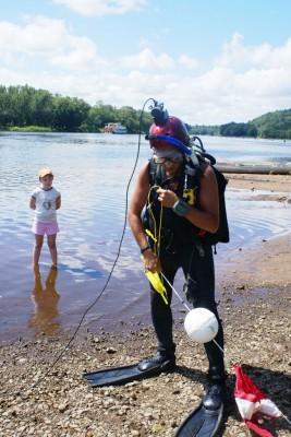 SCUBA diver on the St. Croix River