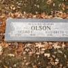 Sigurd and Elizabeth Olson's grave marker
