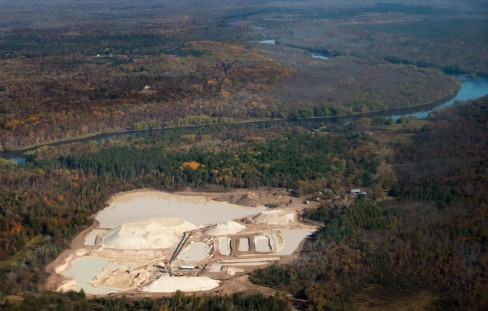 Grantsburg frac sand mine aerial photo
