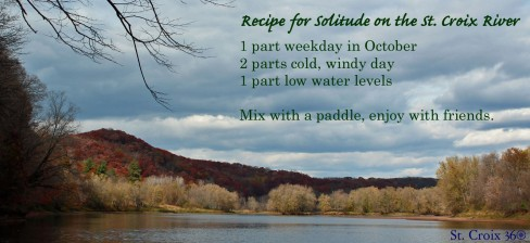 St. Croix River solitude recipe