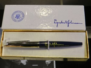 The pen used by President Lyndon Johnson