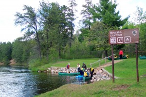 Getting going on the Namekagon River (NPS photo)
