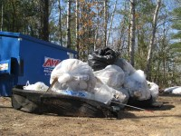 Just half the trash that was collected on the Namekagon