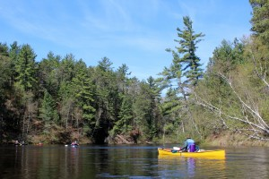 Paddling the Namekagon River during the 2013 trip.