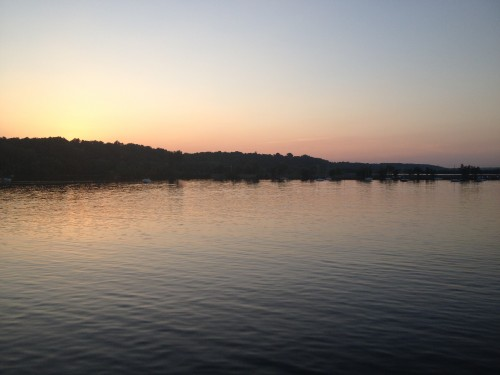 As we pulled up to the dock, a beautiful sunset reminded us why we work to protect the St. Croix.