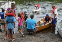 Test driving watercraft at the 2012 Kids on the Water