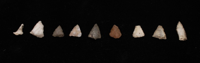 Oneota arrow points from the Sheffield Site