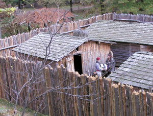 Forts Folle Avoine on the Yellow River near Danbury is the only place on the continent that two competing fur trading companies were located in such close proximity to one another. (Courtesy Forts Folle Avoine)