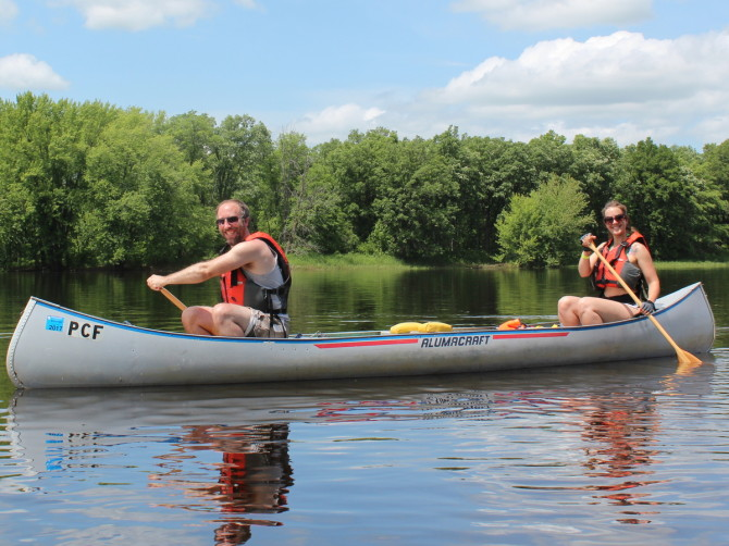 Paddling the river above Highway 70 on Wednesday, June 18th.