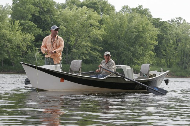 Fly-fishing the St. Croix in a McKenzie drift boat