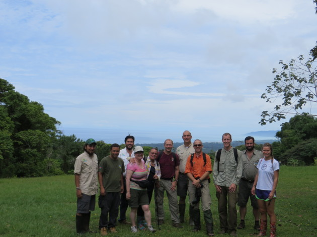 The National Park Service team in Costa Rica