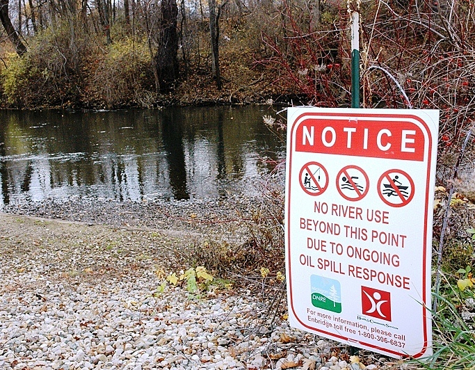 Thirty-six miles of the Kalamazoo River were closed for almost two years after the oil spill.