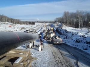 Enbridge pipeline construction in Canada