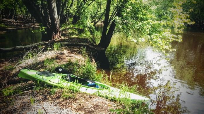 Kayak portage island St. Croix River