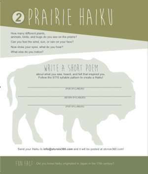 Prairie Haiku from Belwin 's Activity Guide