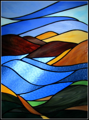 St. Croix River-inspired stained glass by Steve King