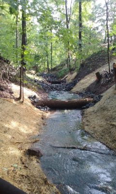 Stabilizing the St. Croix watershed, one gully at a time. (Photo Chisago Soil & Water Conservation District)