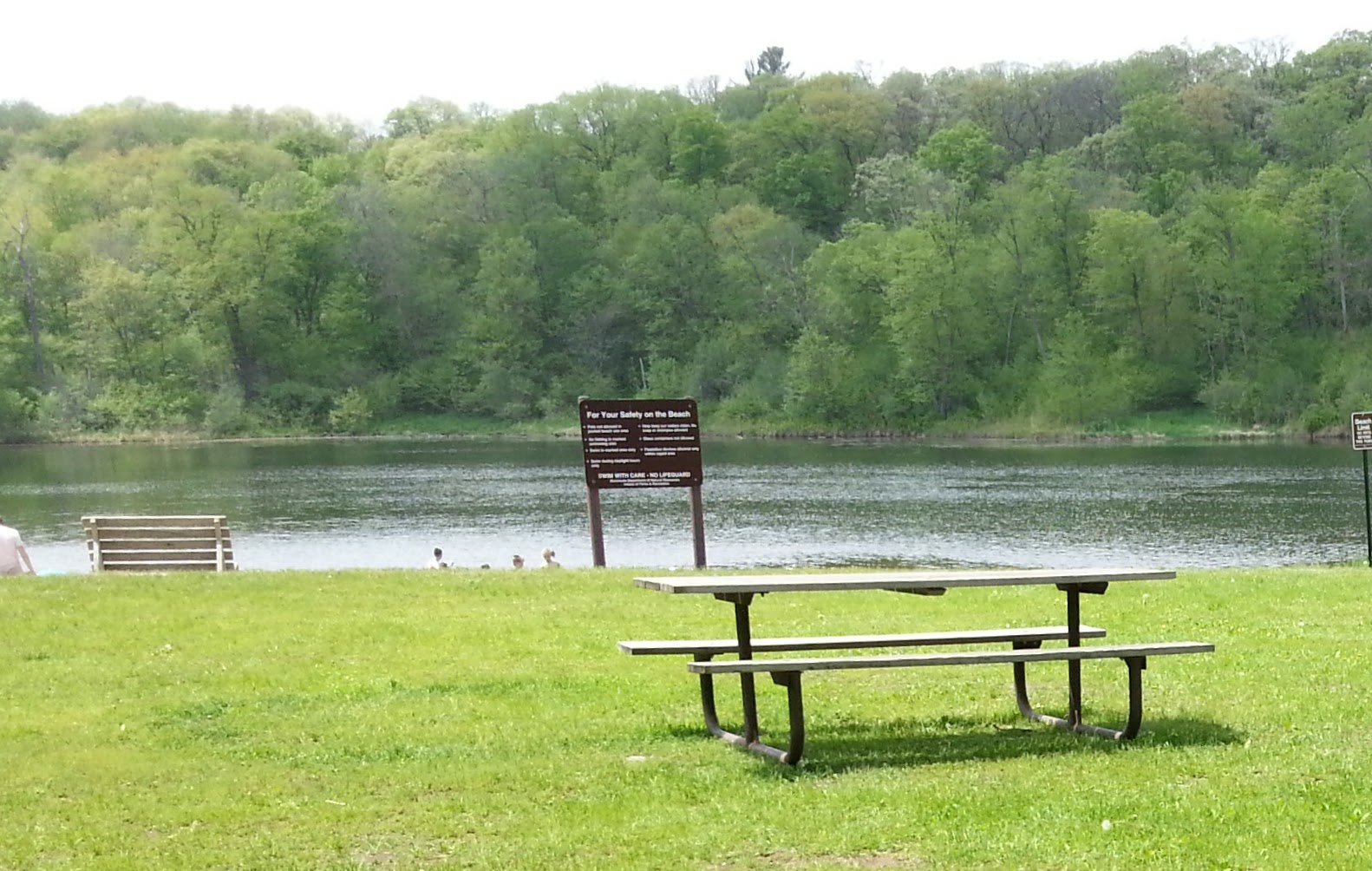 Picnic area and swimming beach on Lake Alice at William O'Brien State Park. (Greg Seitz, St. Croix 360)