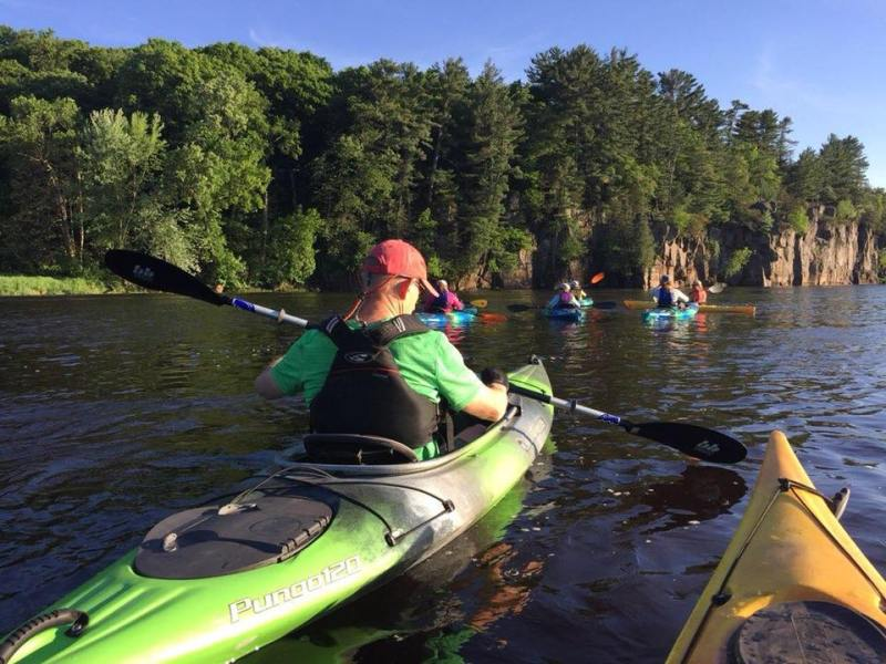 Kayaking on the St. Croix River