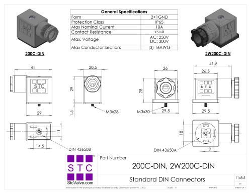 small resolution of  200c coil diions in a din connector wiring diagram on 4 pin din diagram
