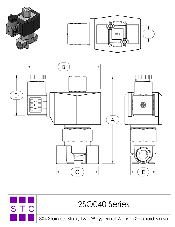 Solenoid Valve Specifications and Dimensions