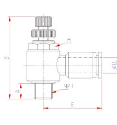 model cv flow control valve meter out tube push in fittings model ci flow control valve meter in tube push in fitting [ 990 x 799 Pixel ]